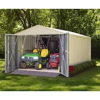Arrow Commander Hot Dipped Galvanized Steel Shed Utility Building 10' feet Wide x 25' feet Long