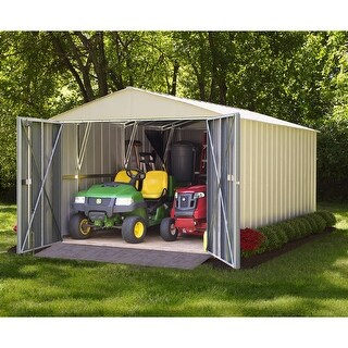Arrow Commander Hot Dipped Galvanized Steel Shed Utility Building 10' feet Wide x 30' feet Long