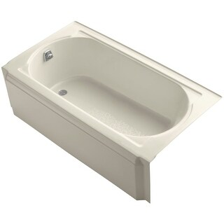 "Kohler K-721 Memoirs Collection 60"" Cast Iron Three Wall Alcove Soaking Bathtub with Left Hand Drain"