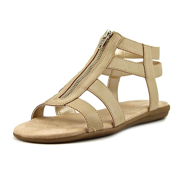 Aerosoles Encychlopedia Women Open Toe Leather Nude Gladiator Sandal
