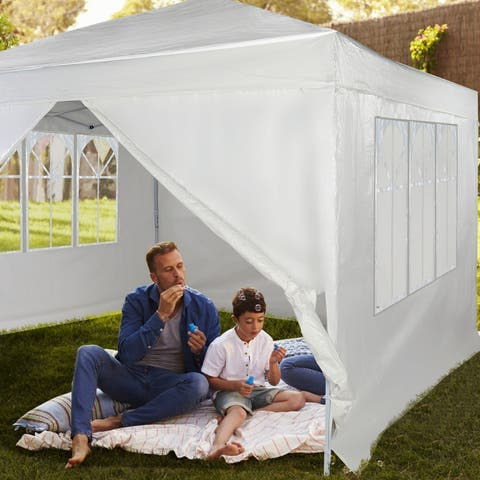 10 Ft Waterproof Right-Angle Pop-up Party Tent