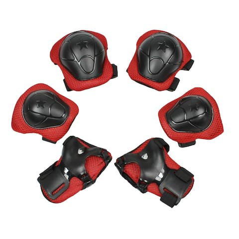Multi Sports Safety Protective Gear Set Wrist Guard Elbow Pads Knee Pads for Kids