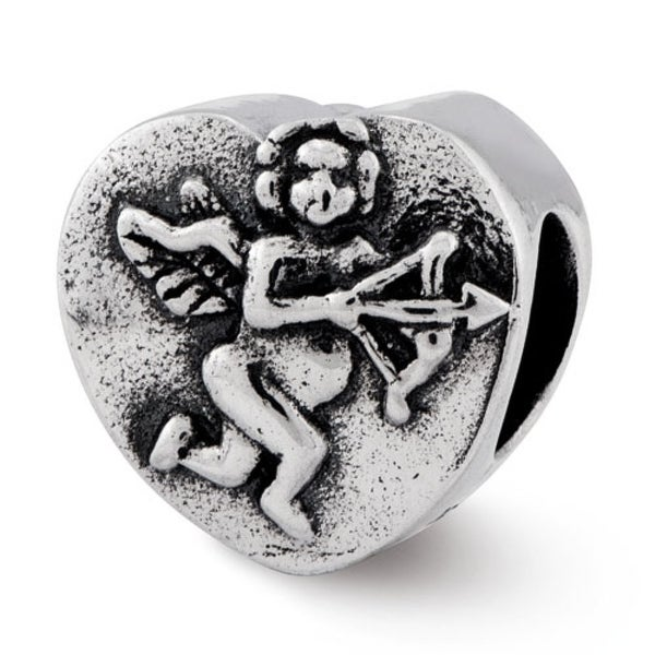 Sterling Silver Reflections Cupid Heart Bead (4mm Diameter Hole)