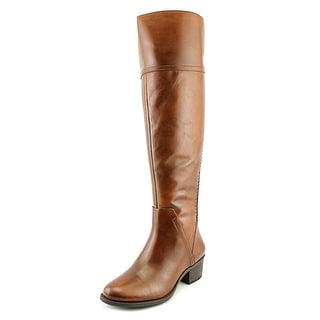 Vince Camuto Bendra Women Round Toe Leather Brown Over the Knee Boot