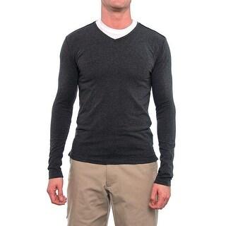 Antony Morato Long Sleeve V-Neck Tee Men Regular Basic T-Shirt