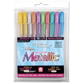 Gelly Roll Metallic Medium Point Pens 10/Pkg-Assorted Colors