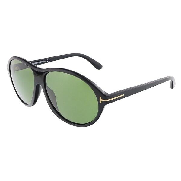 Tom Ford FT0398/S 01N TYLER Shiny Black Oval sunglasses - 60-14-145