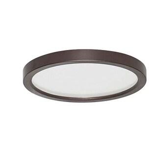 "Canarm LED-SM7DL--C Light 7"" Wide Integrated LED Outdoor Flush Mount Ceiling Fixture"