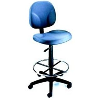 Boss Fully Adjustable Drafting Stool With Foot Ring - B1690 - Blue