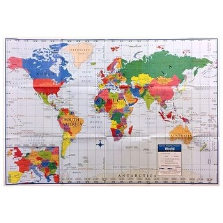 Kappa World Map Wall Map Poster For Home And School, 40x28 Inches