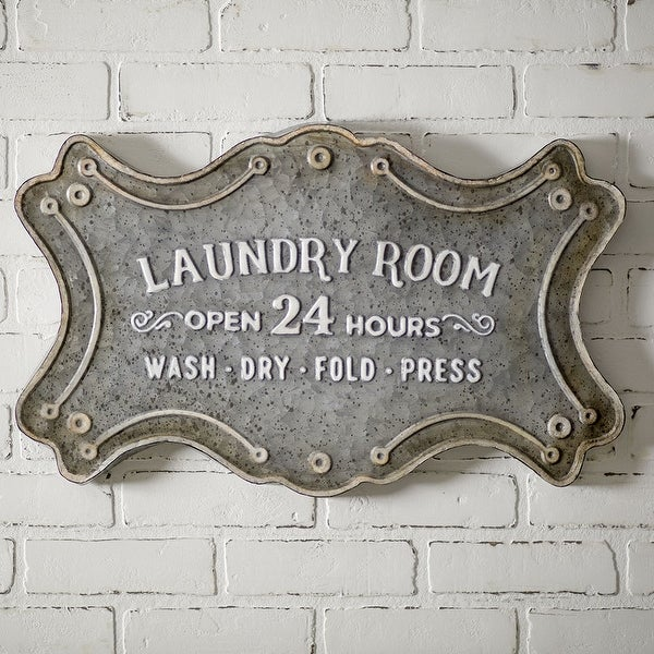 """Laundry Room"" Metal Sign"