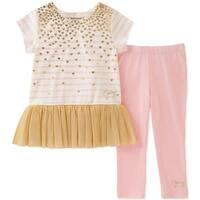 Juicy Couture Girls 2T-4T Gold Mesh Legging Set - Multi