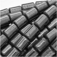 Hematite 4.5mm Short Tube Beads Metallic Gray / 15.5 Inch Strand
