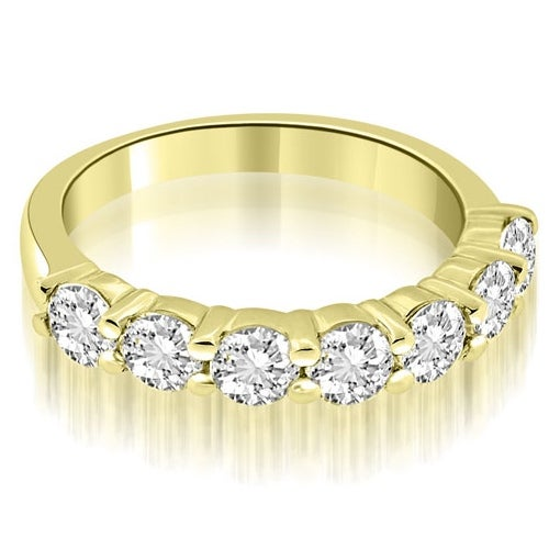 1.05 cttw. 14K Yellow Gold Classic Round Cut Diamond Wedding Band