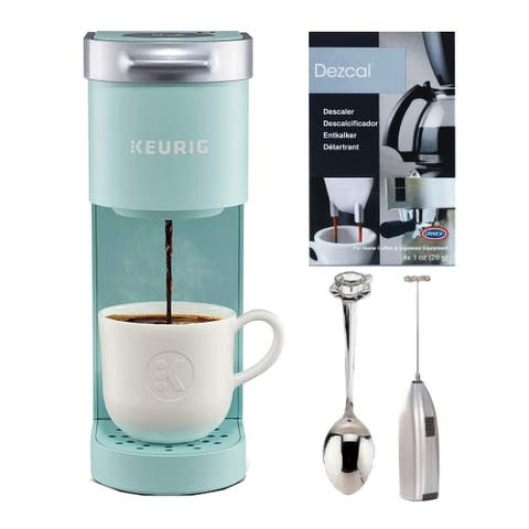 Keurig K-Mini Single Serve Coffee Maker with Descaling Powder Bundle