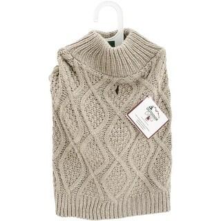 Taupe Extra Large - Fashion Pet Fisherman Sweater