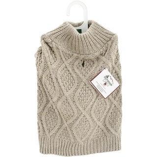 Taupe Extra Small - Fashion Pet Fisherman Sweater