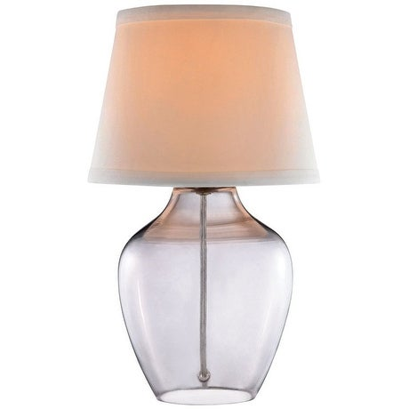 Living Accents 18412-001 Glass Accent Table Lamp, Clear