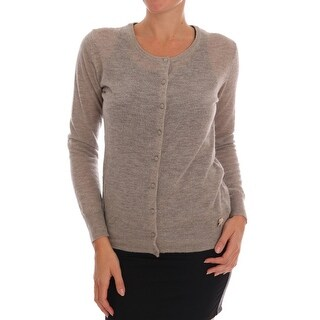 Ermanno Scervino Brown Wool Knit Cardigan Sweater - it48-xl