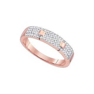 1/4Ctw Diamond Micro-Pave Ring Rose-Gold 10K