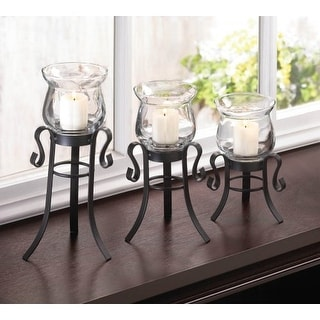 Allure Candle Stand Trio - black