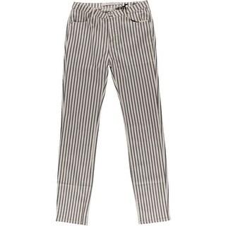 Zara Womens Striped High Waist Straight Leg Jeans - 4