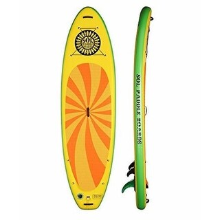 """SOL Paddle Boards SOLtrain SUP 10'7"""" Inflatable SUP carries up to 300 lbs"""