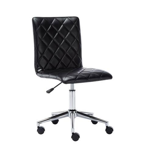 Porthos Home Arlo Armless PU Leather Office Chair