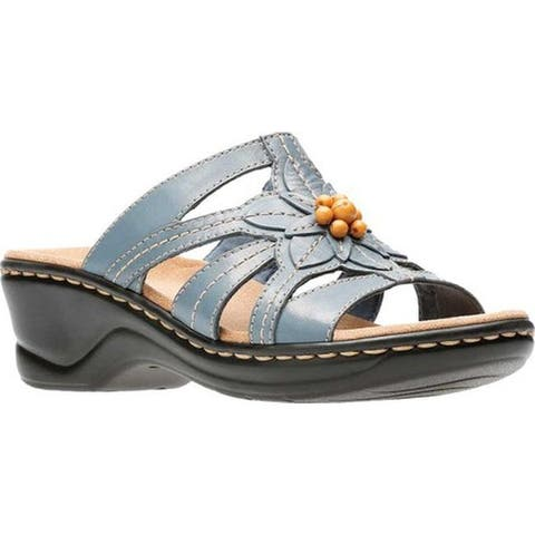 d9e8dd48a7c3 ... Wide Width Classic Comfortable Leather Sandal. Details. SALE ends in 1  day. Clarks Women s Lexi Myrtle Blue Grey Leather