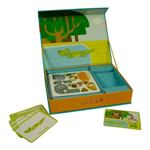 Magnetic Forest Animal Playset - Green