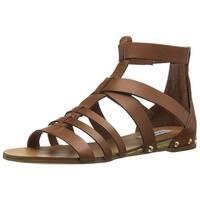 Steve Madden Womens Drastik Leather Open Toe Casual Gladiator Sandals