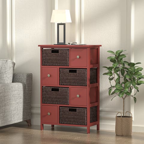 Simple Living Red Storage Cabinet