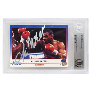 Oliver McCall 1991 Kayo Boxing Trading Card 182 Beckett Encapsulated