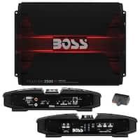 BOSS AUDIO PM2500 Phantom 2500-Watt, 2/4 Ohm Stable Class A/B Monoblock Car Amplifier with Remote Subwoofer Control