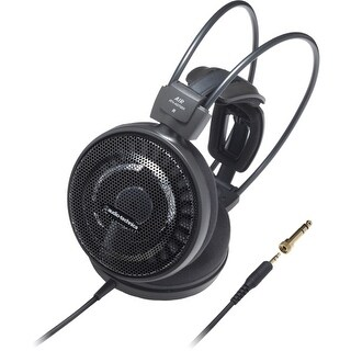 """Audio-Technica ATH-AD700X Audio-Technica ATH-AD700X Audiophile Open-air Headphones - Stereo - Black - Mini-phone - Wired - 38"