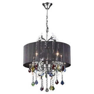 PLC Lighting PLC 34112 Five Light Chandelier from the Torcello Collection - Silver