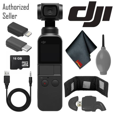 DJI Osmo Pocket Gimbal w/ Memory Card Reader - Cleaning Cloth And More