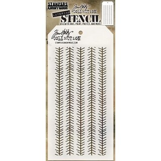 "Tim Holtz Layered Stencil 4.125""X8.5""-Tinsel"