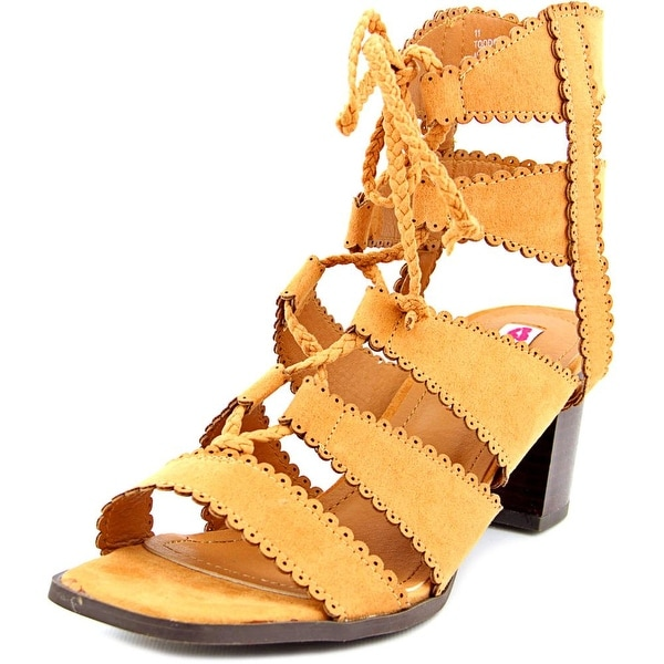2 Lips Too Too Domino Women Open Toe Canvas Tan Gladiator Sandal