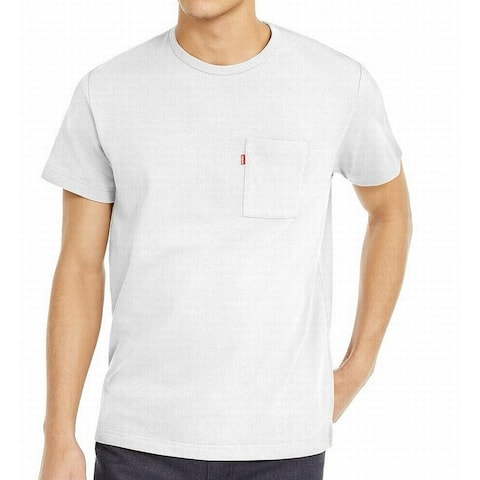 Levi's Mens T-Shirt Pure White Size 2XL Chest-Pocket Heavyweight Tee