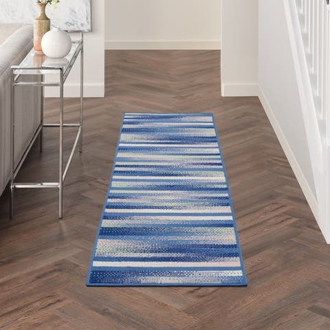Nourison Whimsicle Modern Striped Abstract Area Rug