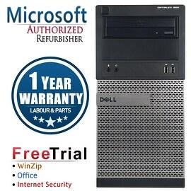 Refurbished Dell OptiPlex 390 Tower Intel Core I3 2100 3.1G 8G DDR3 1TB DVD Win 7 Pro 64 Bits 1 Year Warranty