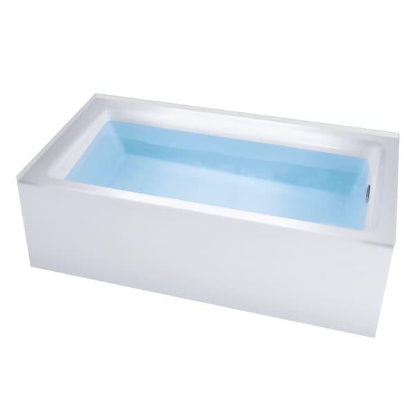 "Miseno MNO3260WAS-R Vitality 60"" Alcove Soaking Bathtub with Self-Leveling Base - Overflow Drain Trim Kit Included Free"