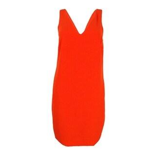 Lauren Ralph Lauren Women's Shift Sleeveless Dress - vienna orange