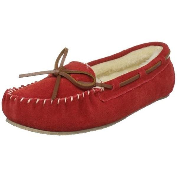 Tamarac Womens Molly Moccasin Slippers Suede Faux Fur - 8 medium (b,m)
