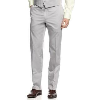 Calvin Klein Mens Slim Fit Cotton Flat Front Pants 29