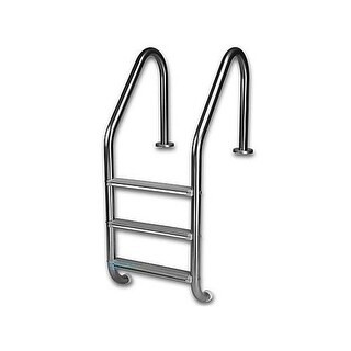 49.5 x 24 in. 3-Step 304 Stainless Steel Economy Ladder with High