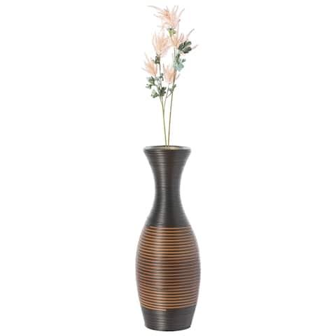 Decorative Antique Trumpet Design Tall Freestanding Floor Vase