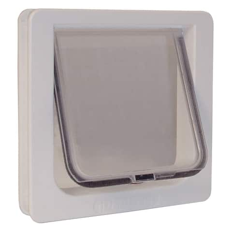 """Ideal Pet Products Lockable Cat Flap Door Small - White - 1.625"""" x 8.18"""" x 7.94"""""""