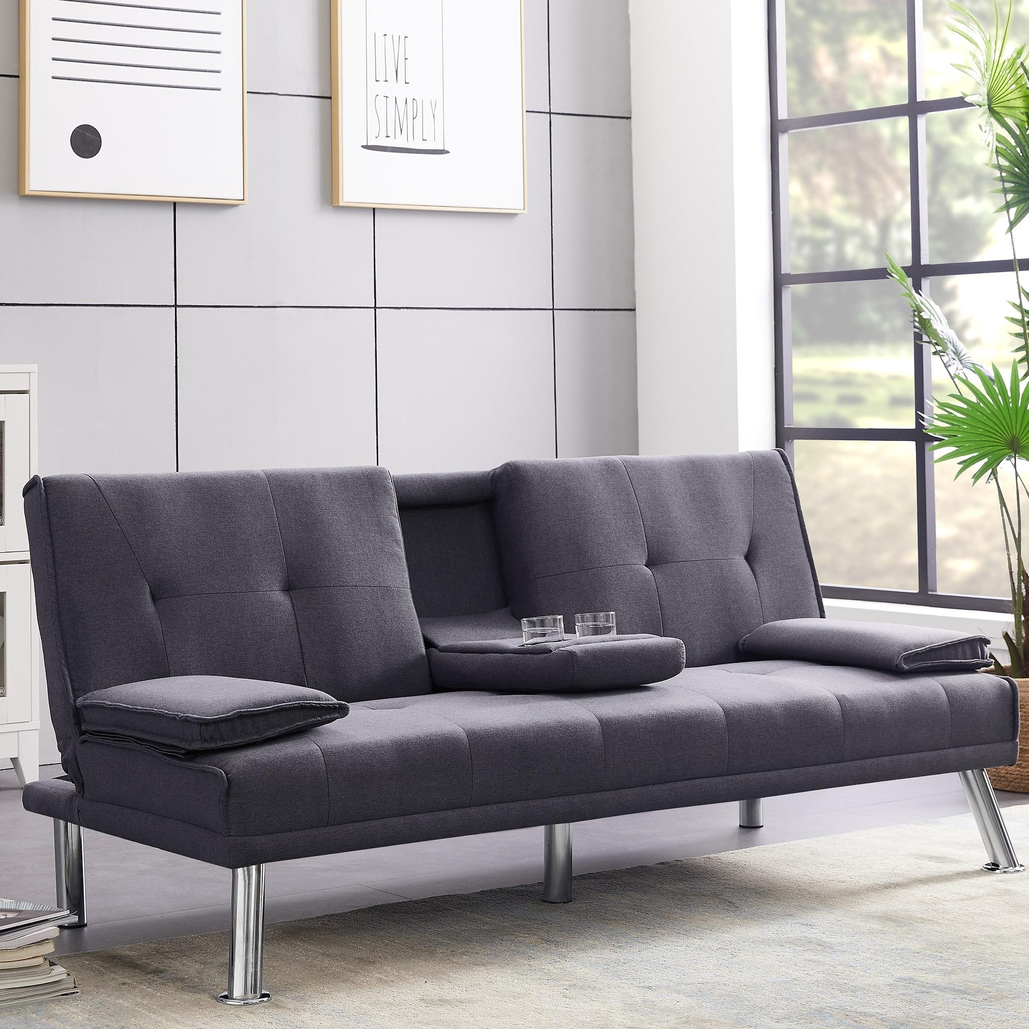 Shop Modern Convertible Futon Sofa Overstock 31989583